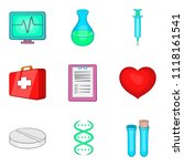 cure the tooth icons set.... | Shutterstock . vector #1118161541
