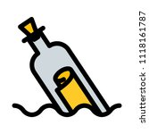 message in bottled | Shutterstock .eps vector #1118161787