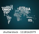 the world map with all states... | Shutterstock . vector #1118162075