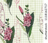 retro wild seamless floral...   Shutterstock .eps vector #1118162717