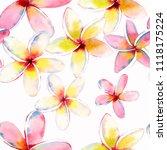 bright beautiful green floral...   Shutterstock . vector #1118175224
