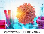 cancer cell oncology research... | Shutterstock . vector #1118175839