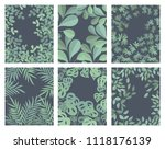 vector collection of posters... | Shutterstock .eps vector #1118176139