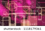tech background. colorful... | Shutterstock .eps vector #1118179361