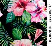 bright green herbal tropical...   Shutterstock . vector #1118181467
