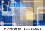 tech pattern. colorful... | Shutterstock .eps vector #1118182091