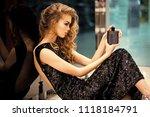 advertising women's perfume.... | Shutterstock . vector #1118184791