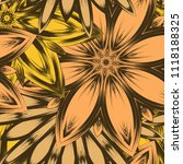 seamless floral background.... | Shutterstock .eps vector #1118188325