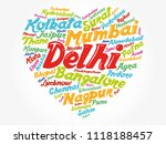 list of cities and towns in... | Shutterstock .eps vector #1118188457