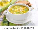 vegetable soup   Shutterstock . vector #111818891