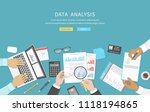 data analysis  business meeting ... | Shutterstock .eps vector #1118194865