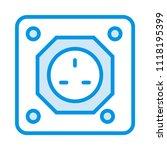 outlet plugin socket  | Shutterstock .eps vector #1118195399