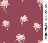 pattern  watercolor flowers ... | Shutterstock . vector #1118200421