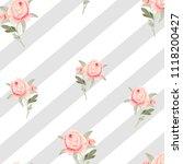 pattern  watercolor flowers ... | Shutterstock . vector #1118200427