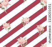 pattern  watercolor flowers ... | Shutterstock . vector #1118201051