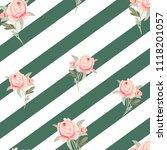 pattern  watercolor flowers ... | Shutterstock . vector #1118201057