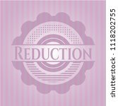 reduction pink emblem. retro | Shutterstock .eps vector #1118202755