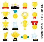 gold award medal winner... | Shutterstock .eps vector #1118205137
