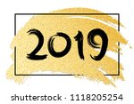 happy new year 2019. luxury... | Shutterstock .eps vector #1118205254