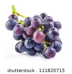 Dark Grapes  Isolated On White...
