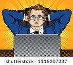 vector comic pop art style... | Shutterstock .eps vector #1118207237