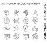 set of artifical intelligence... | Shutterstock . vector #1118208347