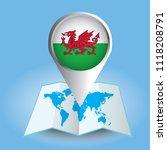 world map centered on europe... | Shutterstock .eps vector #1118208791
