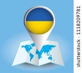 world map centered on europe... | Shutterstock .eps vector #1118209781