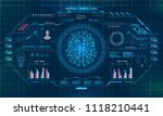 abstract technology science... | Shutterstock .eps vector #1118210441