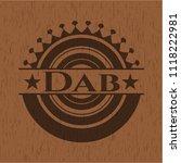 dab wooden emblem | Shutterstock .eps vector #1118222981