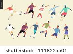 european football  soccer... | Shutterstock .eps vector #1118225501