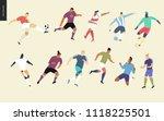 european football  soccer... | Shutterstock .eps vector #1118225501