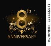 8th years anniversary... | Shutterstock .eps vector #1118232161