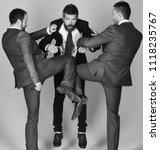 businessmen wear smart suits...   Shutterstock . vector #1118235767
