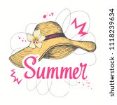 hand drawn summertime fashion... | Shutterstock .eps vector #1118239634