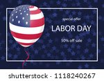 happy labor day background with ... | Shutterstock .eps vector #1118240267