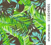 tropic seamless pattern with... | Shutterstock .eps vector #1118245001