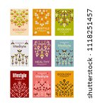 ecology cards set  ecological... | Shutterstock .eps vector #1118251457
