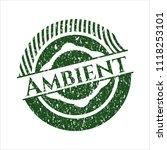 green ambient distress rubber... | Shutterstock .eps vector #1118253101