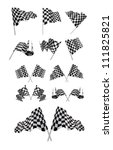 checkered flags vector set... | Shutterstock .eps vector #111825821