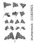 checkered flags vector set... | Shutterstock .eps vector #111825821