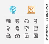 workplace icons set....