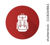 camping backpack flat design... | Shutterstock . vector #1118264861