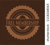 free membership vintage wooden... | Shutterstock .eps vector #1118268065