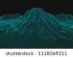 blue abstract vector wireframe... | Shutterstock .eps vector #1118269211