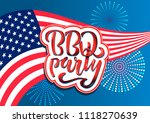july 4th bbq party lettering... | Shutterstock .eps vector #1118270639