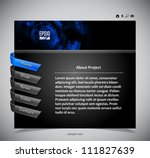 website template in black and... | Shutterstock .eps vector #111827639