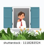 vector illustration of man... | Shutterstock .eps vector #1118283524