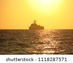 seascape. beautiful seascape at ... | Shutterstock . vector #1118287571