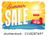 hot summer sale banner ... | Shutterstock .eps vector #1118287697